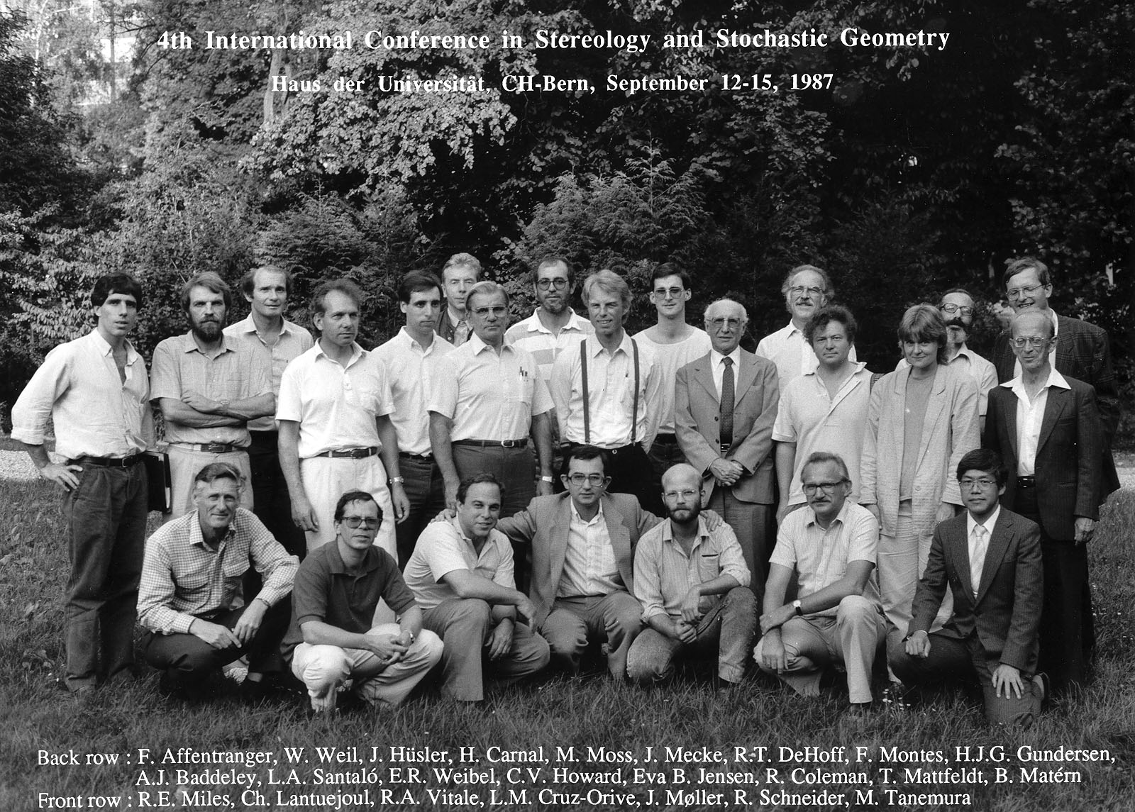 Hans Jørgen Gottlieb Gundersen at the 4th International Conference on Stereology and Stochastic Geometry (Bern, 1987)